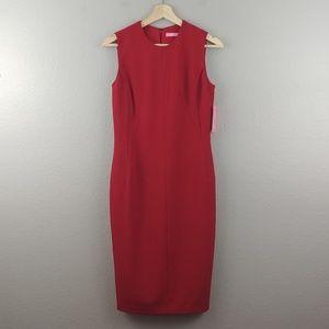 ISAAC MIZRAHI NY   red sheath dress